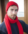 Mütze - Schurwolle - unisex - Rot