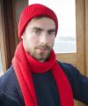 Mütze - Schurwolle Merino - unisex - Rot